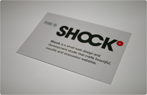 Shock Business Card
